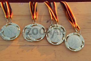 Medaillen fuer Laufwettbewerbe