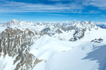 Mont Blanc mountain massif (view from Aiguille du Midi Mount,  French )