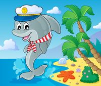 Image with dolphin theme 3 - picture illustration.