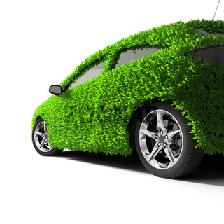 The metaphor of the green eco-friendly car