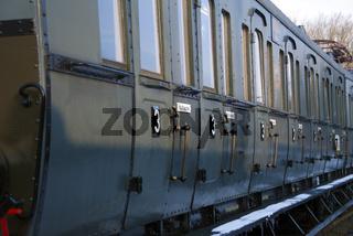 Alter stillgelegter Eisenbahnwaggon