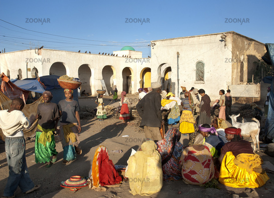market place in harar ethiopia