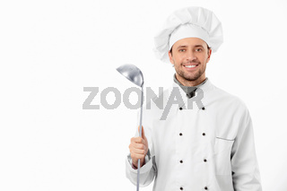 A man with a ladle