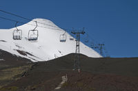 Skigebiet auf den Vulcan Osorno bei Puerto Veras, Region X, Regin de los Lagos (Seengebiet oder chilenische Schweiz), Patagonien, Chile - Skiarena on the Vulcano Osorno near to Puerto Veras, Region X, Regin de los Lagos, Patagonia, Chile