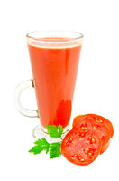 Juice tomato in a tall glass with parsley