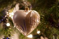 Silbernes Weihnachtsherz
