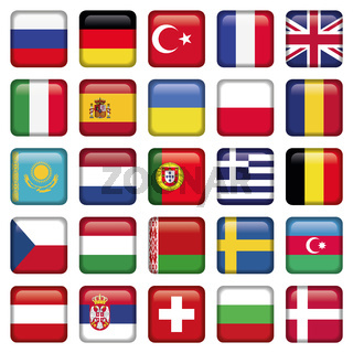 Europe Icons Squared Flags