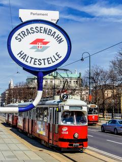 Wien. Österreich. Straßenbahn