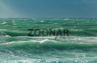 Choppy sea