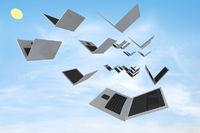 Open laptops