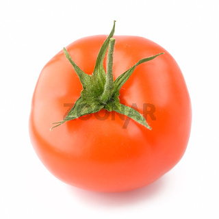 A fresh tomato isolated on white background