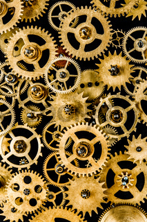 old mechanism background
