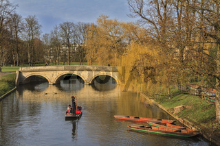 Punting On The River Cambridge UK