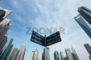 signpost in shanghai