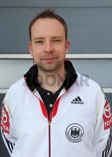 Jan Gorr (DHB Co-Trainer Herren-Handball-Nationalmannschaft) beim Spiel am 04.05.2013 in Magdeburg