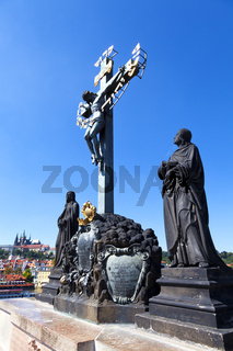 Statue on Charles Bridge, Prague, Czech Republic