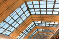 illuminated ceiling indoor shopping mall