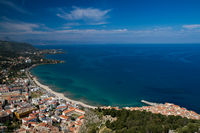 Panorama of the sicilian coastline near Cefalu
