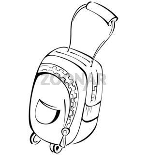 Black-and-white-contour-luggage-bag