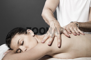Spa massage for beautiful pretty woman - Beauty treatment therapy