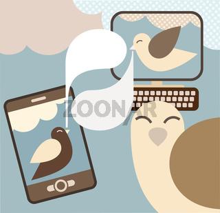 Social Media -concept vector illustration