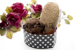 Massage Schwamm mit Rosen