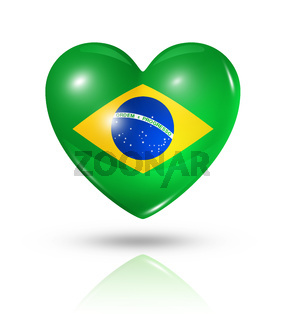 Love Brazil, heart flag icon