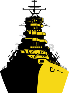 World War Two Battleship Retro