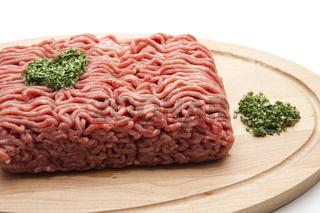 Hackfleisch mit Kräuter