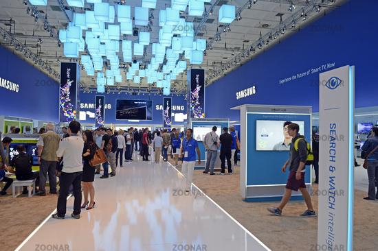 Ausstellungshalle der Firma Samsung auf der Internationalen Funkausstellung IFA 2012 in Berlin, Deutschland, Europa
