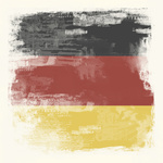 Grunge flag of Germany