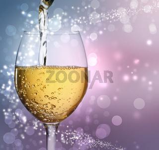 Wine Glass with White Wine
