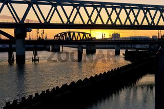 Hamburg, Billhafen, Oberhafenkanal