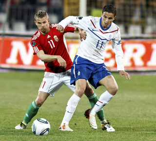 Hungary vs. Netherlands (0:4) football game