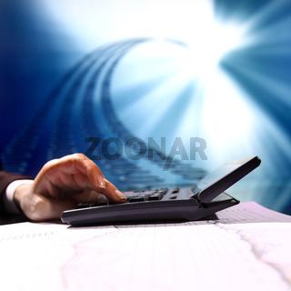 businessman data info technology concept