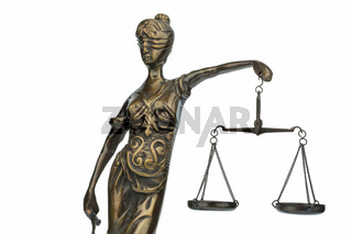 Skulptur der Justitia