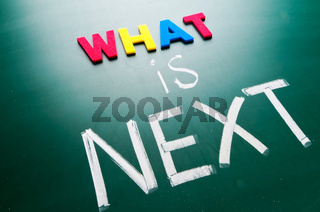 What is next concept,words on blackboard.