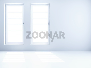 empty clear room with light from windows