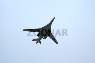 Tu-160 strategic bomber in flight