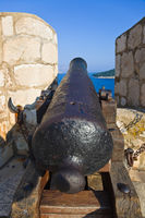 Retro cannon at Dubrovnik, Croatia