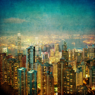 vintage image of hong kong