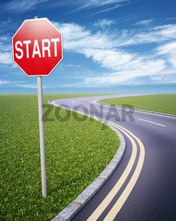 GO! road sign