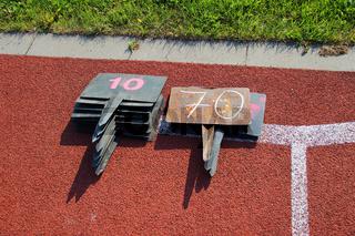 Weitenmessung in der Leichtathletik