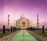 Taj Mahal on sunset, Agra, India