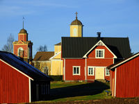 Lehtimäen Dorf mit Kirche - Finnland - Suomi