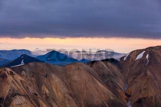 Landmannalaugar at sunrise