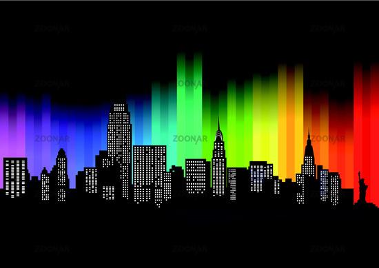 New York  farbstreifen.eps