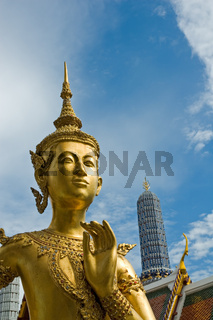 Welcome to Bangkok - Kinnari statue at Wat Phra Kaew