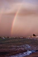 Regenbogen am Strand