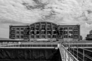 Historisches Fabrikgebäude der Chemiefirma Allessa